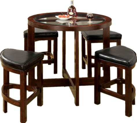 5 pc dining set traditional round table solid wood chairs 5 pc dark walnut dining set round glass table top padded