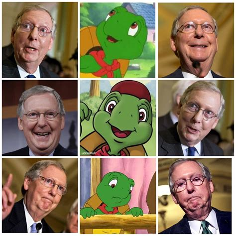 a that looks like a my said mitch mcconnell looks like a sinister franklin politicalhumor