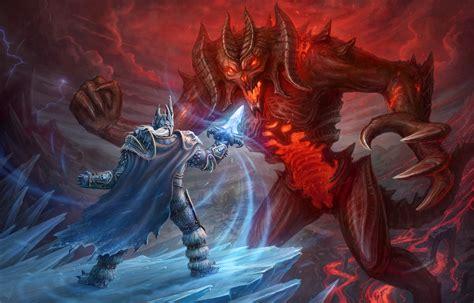 arthas vs diablo by leonovichdmitriy on deviantart