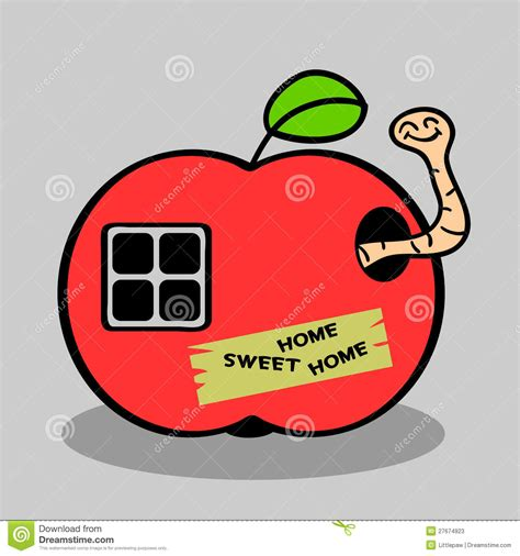 apple house little worm in apple house stock photos image 27674923