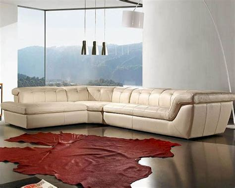 cream leather sectional sofa cream leather sectional sofa set 44l397