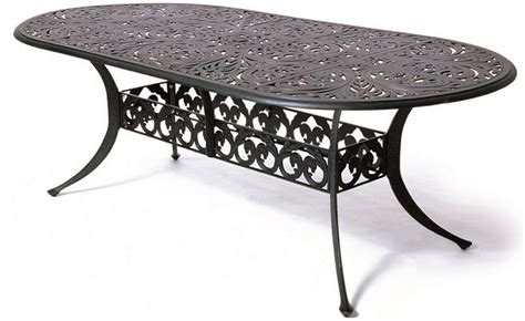 Oval Cast Aluminum Patio Table Chateau By Hanamint Luxury Cast Aluminum Patio Furniture 42 Quot X 84 Quot Oval Dining Table
