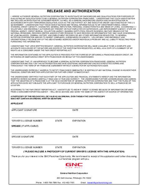 printable job application for gnc free printable gnc job application form page 9