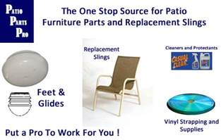 Patio Furniture Parts Repair by Replacement Slings And Parts For Patio Furniture