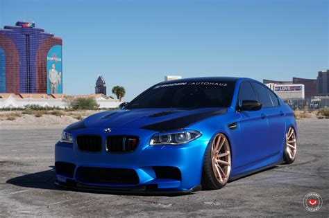bmw m5 slammed slammed bmw m5 f10 on custom painted vossens carid com