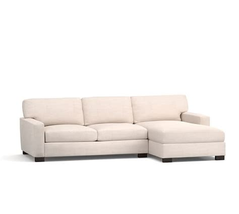 Square Sectional Sofa Turner Square Arm Upholstered Sofa With Chaise Sectional Pottery Barn