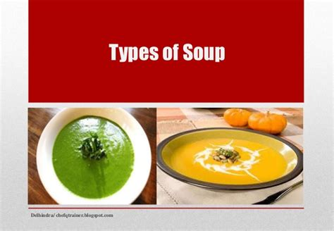 types of soup chef qtrainer