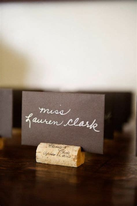 Cork Card Holder Template by Best 25 Cork Place Cards Ideas On Wedding