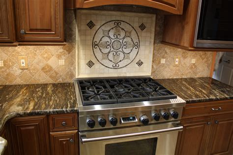 kitchen backsplash medallion tile medallion traditional kitchen cleveland by