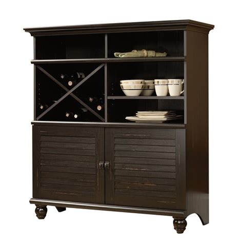sauder harbor view sideboard in antiqued paint buffet