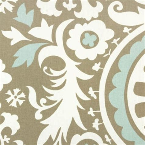 modern drapery fabric suzani powder blue contemporary drapery fabric