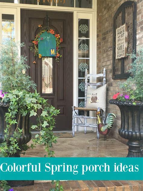 spring porch decorating ideas colorful spring porch with diy decor debbiedoos