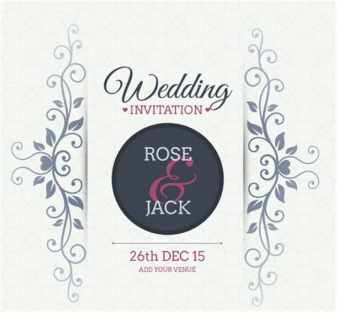 free vector invitation card template vintage wedding backgrounds freecreatives