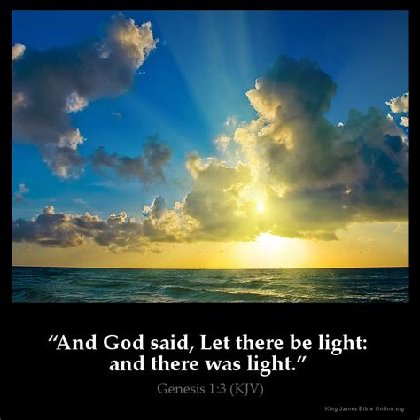 god said let there be light genesis 1 3 inspirational image