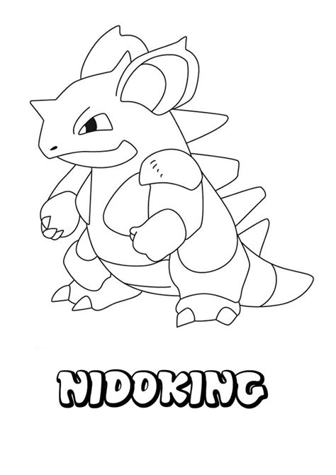 pokemon coloring pages nidoking nidoking coloring pages hellokids com