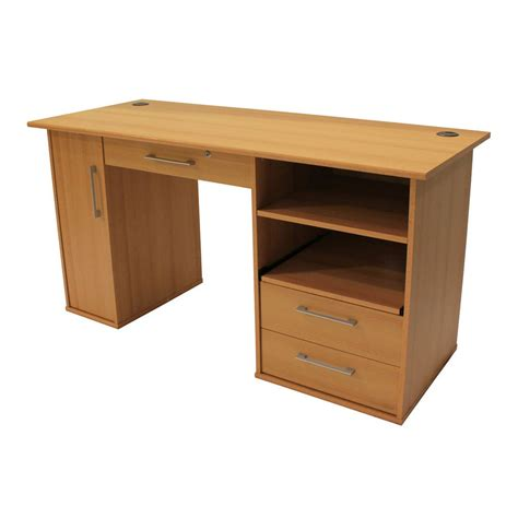 desk l staples pioneer desk 145 cm beech staples 174