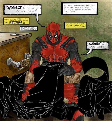 Deadpool Bathroom by Deadpool A Moment By Lycanthro54 On Deviantart