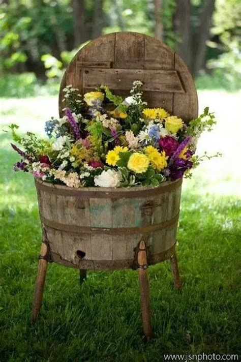 whiskey barrel planter outdoors pinterest