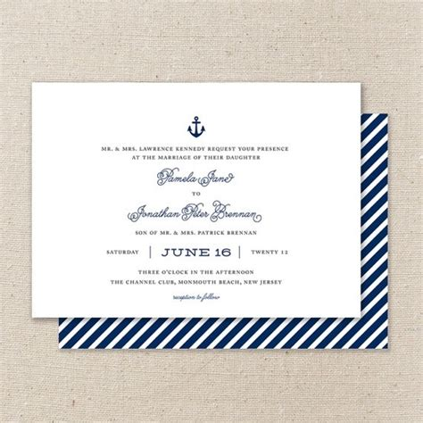 Nautical Save The Date Or Wedding Invitation Nautical Save The Date Template