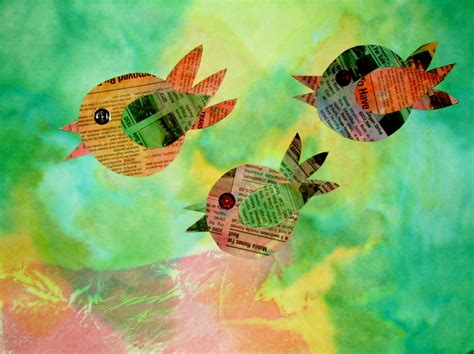 bird craft projects craft ideas using newspaper that is being recycled 20 of