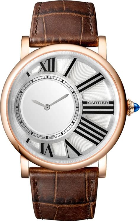 cartier rotonde mysterious hours mechanical 18kt pink gold