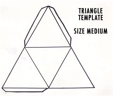 triangle template diy 3d geometric sculpture make