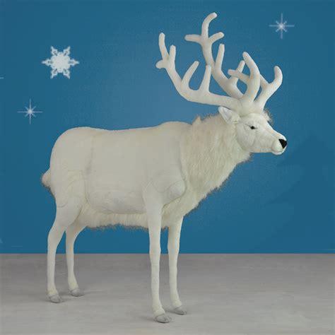 hansa life sized plush white reindeer 60 quot