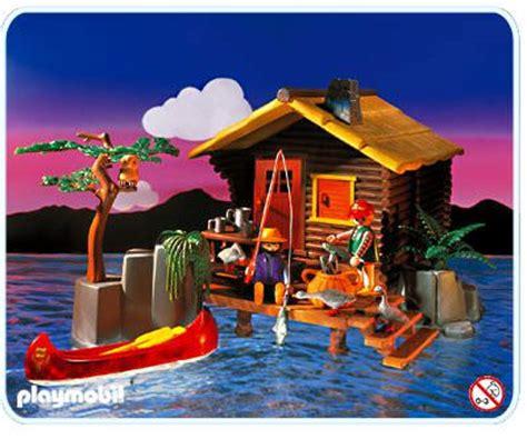 playmobil log cabin playmobil set 3826 sportsman s cabin klickypedia
