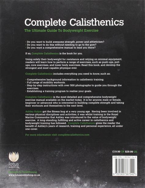 Pdf Complete Calisthenics Ultimate Bodyweight by Marines Bodyweight Workout Routine Eoua