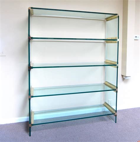 Etagere 8 Cases by Mid Century Modern Brass And Glass Display Etagere In The