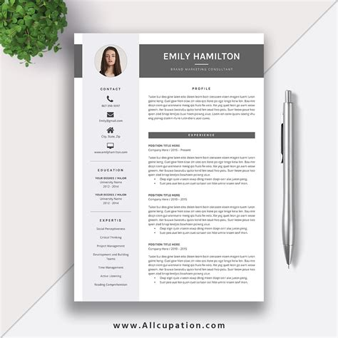 eye catching resume template downloads this eye catching editable word resume template for