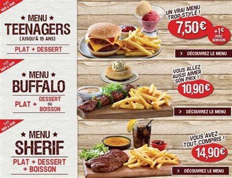 Buffalo Grill Menu by Les Nouveaux Menus De La Carte Buffalo Grill