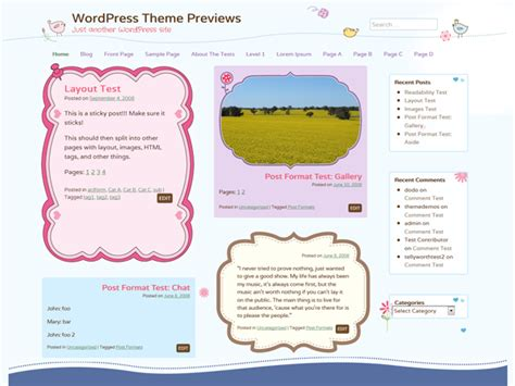 cute themes wordpress free cute frames wordpress theme pure essence net