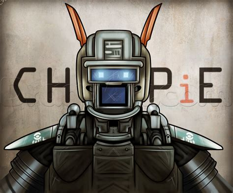 make a drawing how to draw chappie step by step movies pop culture