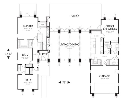 one story house plans with large kitchens single story house plans with large kitchens escortsea