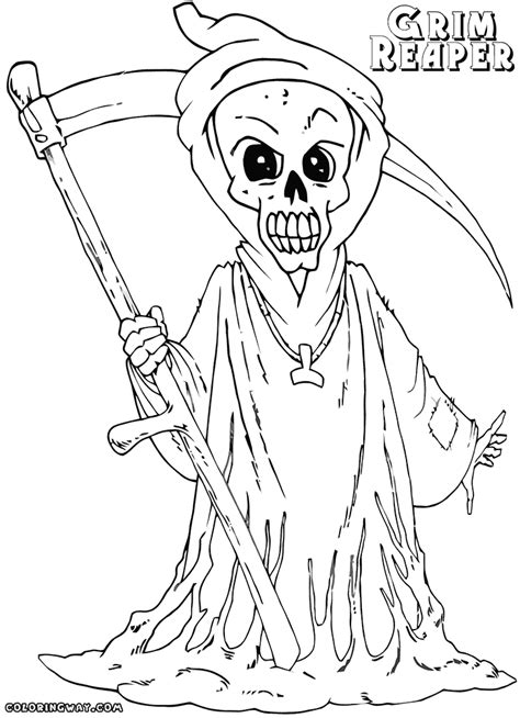 grim reaper coloring pages for adults coloring pages