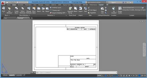 autocad layout use how to insert a title block