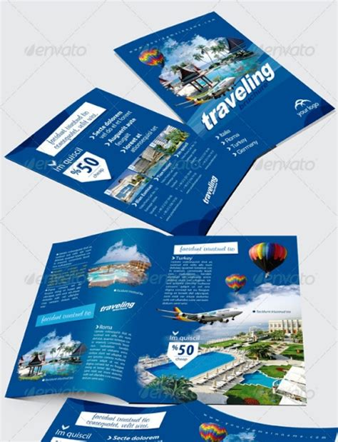 20 3 fold brochure template indesign