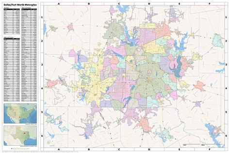 printable map dfw metroplex search the maptechnica printable map catalog maptechnica