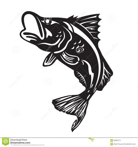 barramundi tattoo designs the barramundi fish jump vector design stock vector