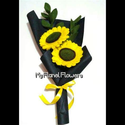 tutorial membungkus buket bunga flanel jual bunga flanel buket bunga matahari di lapak tiara