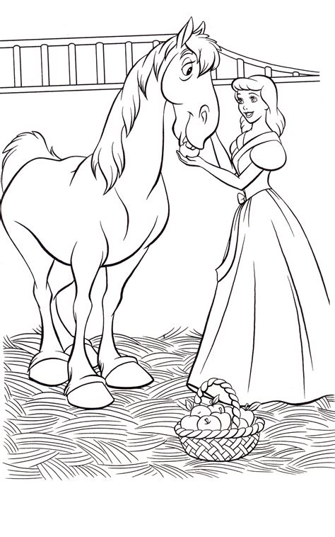 free coloring pages of cinderella 2