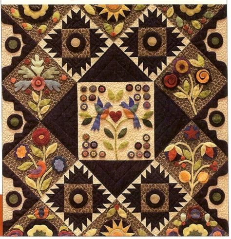 Woolen Quilts by Pennies From Heaven Wool Appliqu 233 Block Of The Month