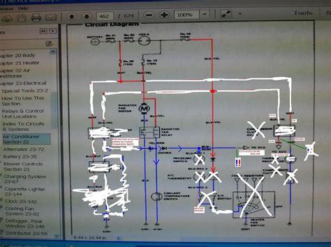 crx dx   radiator fan relay wiring  pics honda tech