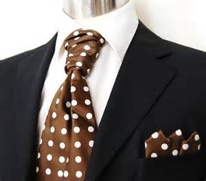 db1006 new pretied ascot tie set brown amp cream ebay