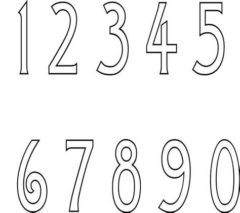 printable number sign stencils number stencils
