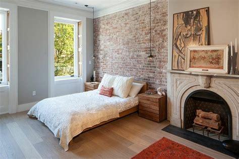 y chimenea en habitacion dormitorios opciones originales de paredes de ladrillo