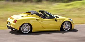 Alfa Romeo Spider Reviews 2016 Alfa Romeo 4c Spider Review Caradvice