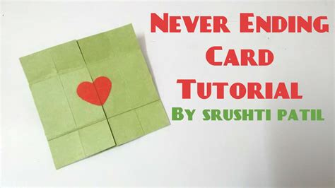 tutorial carding never ending card endless card tutorial by srushti patil
