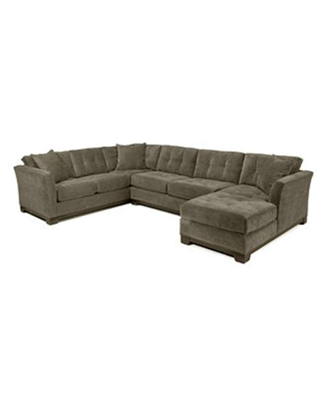 Sectional Sofa Macys by Elliot Fabric Microfiber 3 Chaise Sectional Sofa